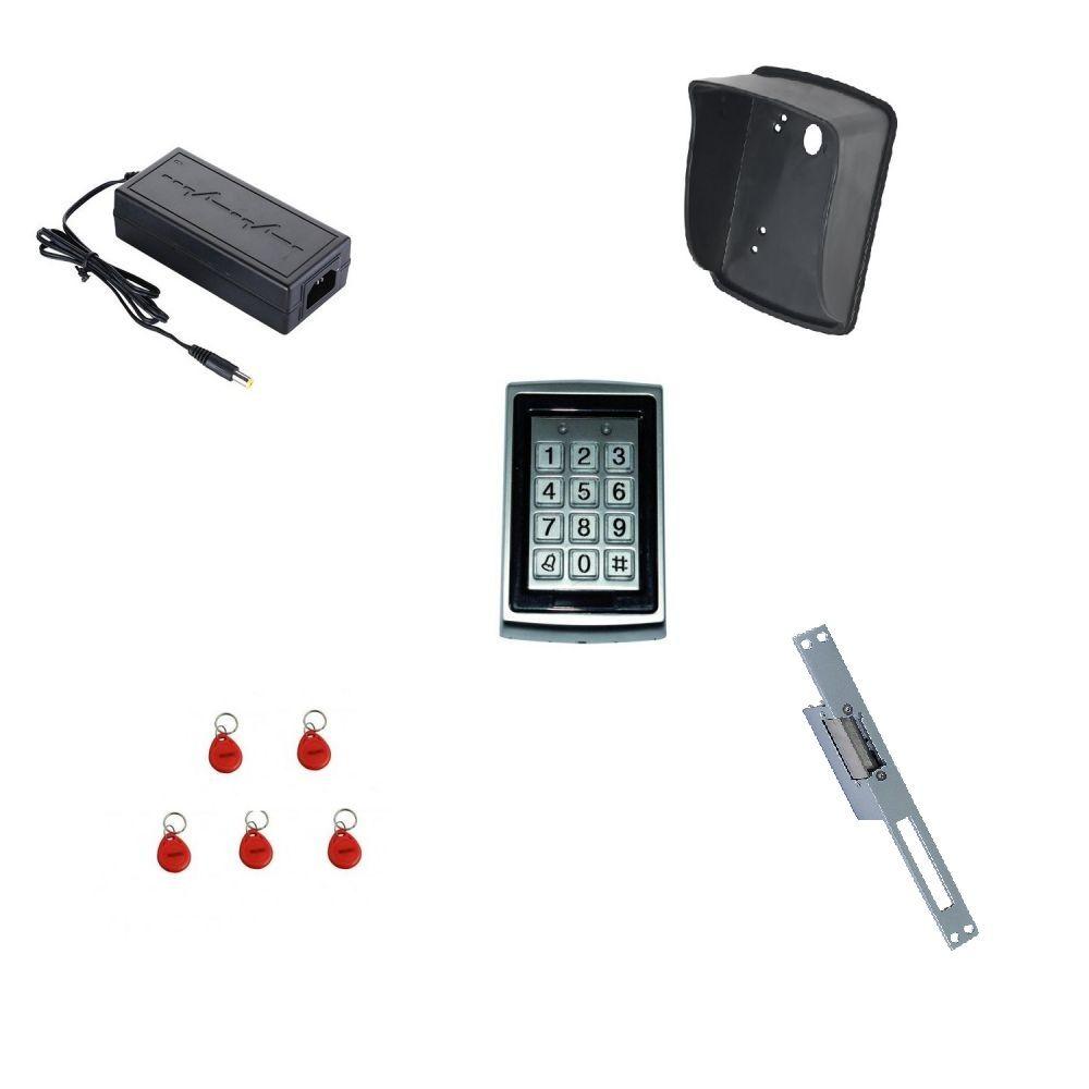 Kit control acces de exterior standalone ACC-7612KIT cu tastatura si 5 tag-uri pentru usa / poarta