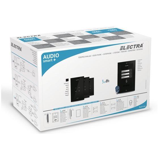 Kit Interfon Audio Electra Pentru 3 Familii