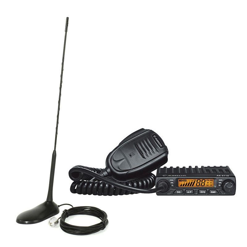 Kit Statie Radio Cb Albrecht Ae 6110 Asq + Antena Pni Extra 45