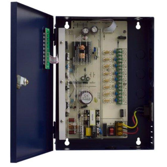 Sursa de alimentare in carcasa metalica ATE-DC1208P 12V 8A 8 iesiri protejate prin sigurante cu autorevenire