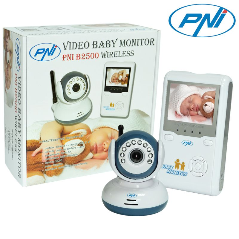 Video Baby Monitor Pni B2500 Ecran 2.4 Inch Wirele