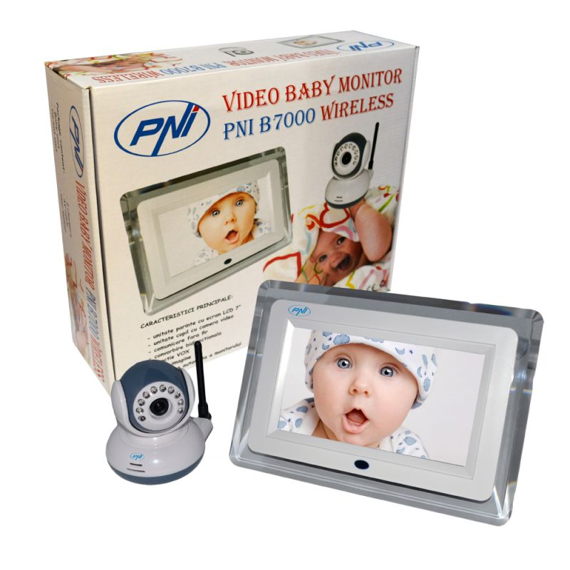 Video Baby Monitor Pni B7000 Ecran 7 Inch Wireless