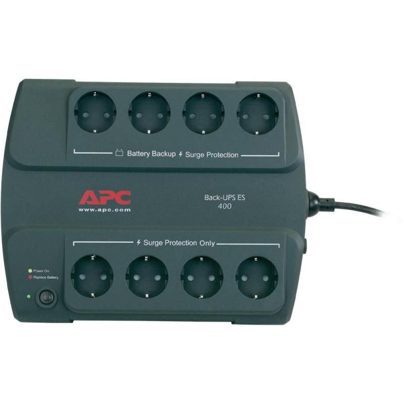 UPS APC BE400-GR Back-UPS ES stand-by 400VA / 240W 8 conectori Schuko CEE7