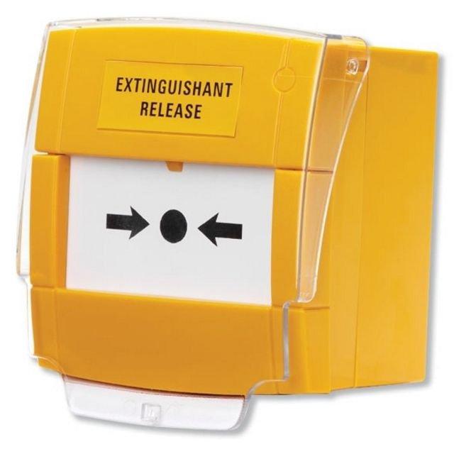 Buton de apelare galben KAC C-TEC BF372 pentru declansare stingere incendiu