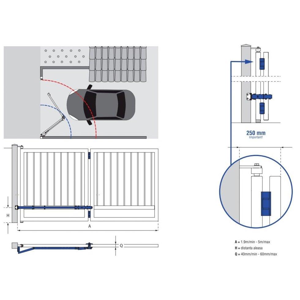 Sistem Fac Bi-Folding ideal pentru spatiile de acces mic