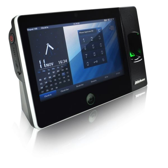 Sistem De Pontaj Cu Amprenta. Comunicatie Wifi Si Camera Foto Incorporata Zkteco Biopad-100