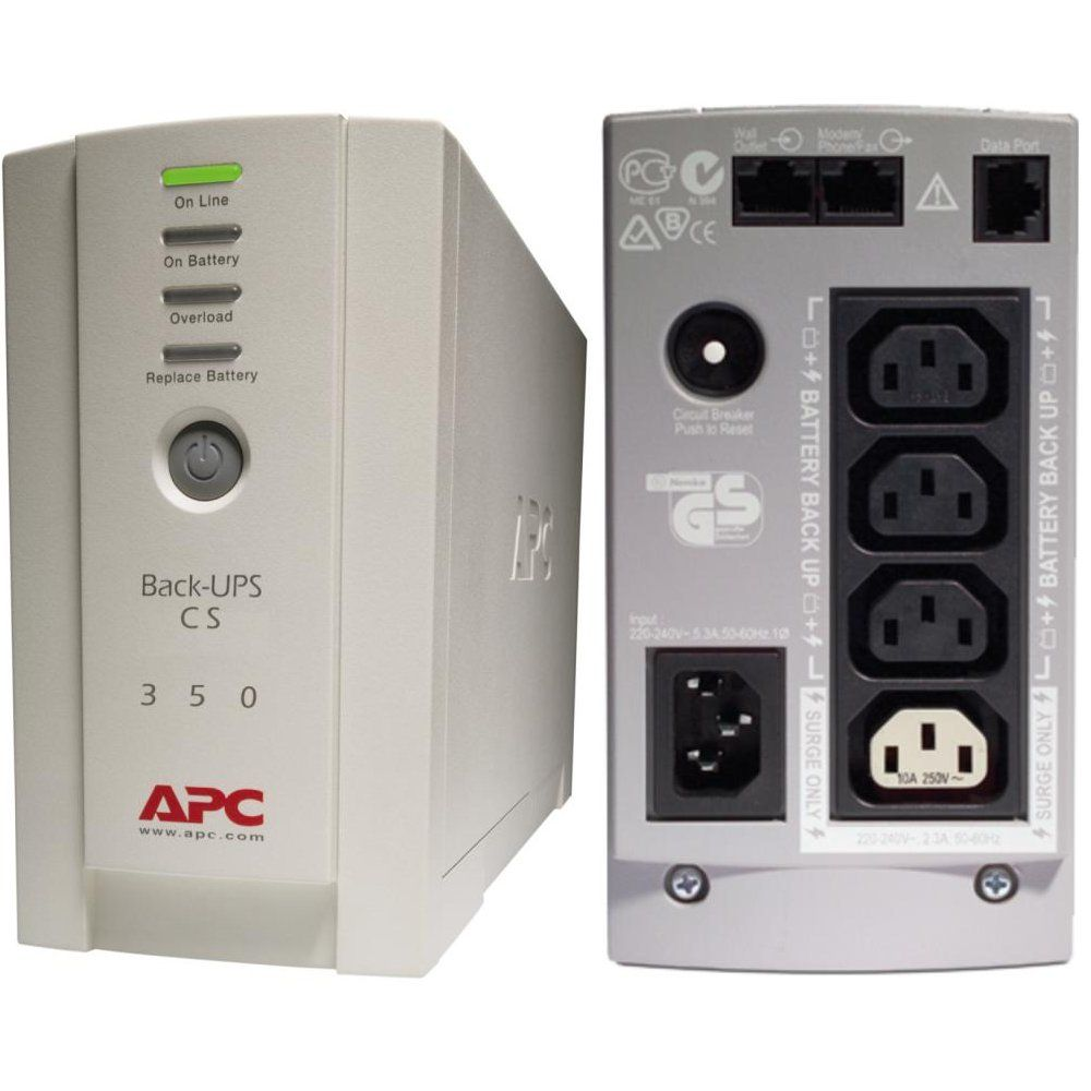 Imagine Ups Apc Bk350ei Back-ups Cs Stand-by 350va - 210w 4 Conectori C13