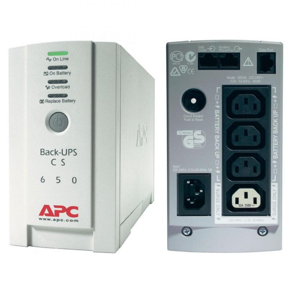 Imagine Ups Apc Bk650ei Back-ups Cs Stand-by 650va - 400w 4 Conectori C13
