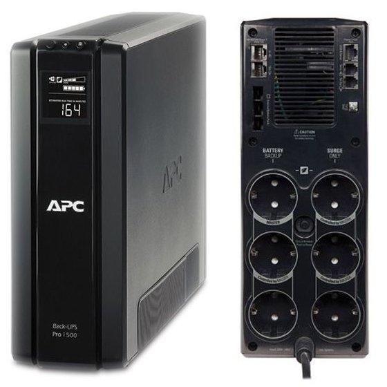 UPS APC Back-UPS RS line-interactive / aprox.sinusoida 1500VA / 865W 6 conectori Schuko CEE7 BR1500G-GR