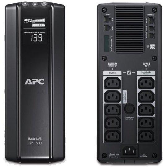 UPS APC Back-UPS RS line-interactive / aprox.sinusoida 1500VA / 865W 10conectori C13 baterie APCRBC124 optional extindere garantie BR1500GI