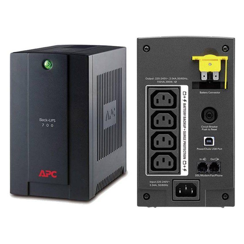 UPS APC BX700UI Back-UPS BX line-interactive / aprox.sinusoida 700VA / 390W 4 conectori C13