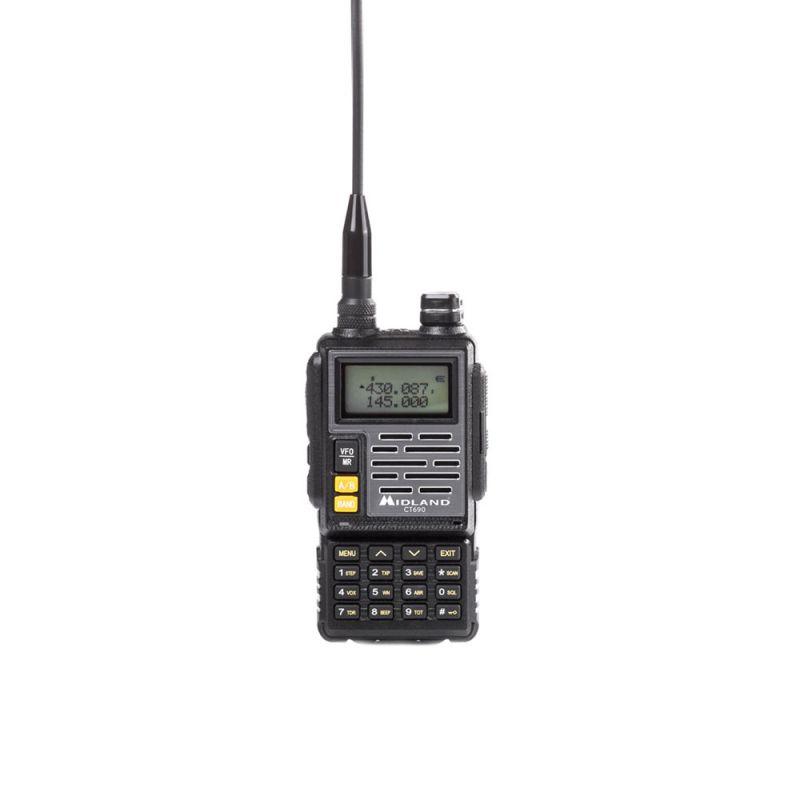 Statie Radio Vhf/uhf Portabila Midland Ct690 Dual Band 136-174 Si 400-470 Mhz Culoare Negru Cod C1260