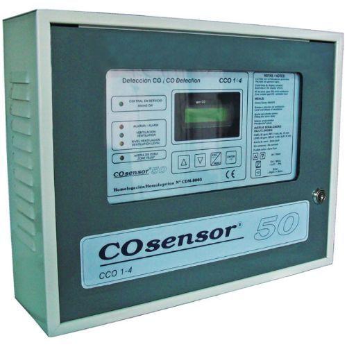 Centrala monoxid de carbon Cofem CCO1-4 4 zone Dubla ventilatie si iesire baterii CCO422DVB