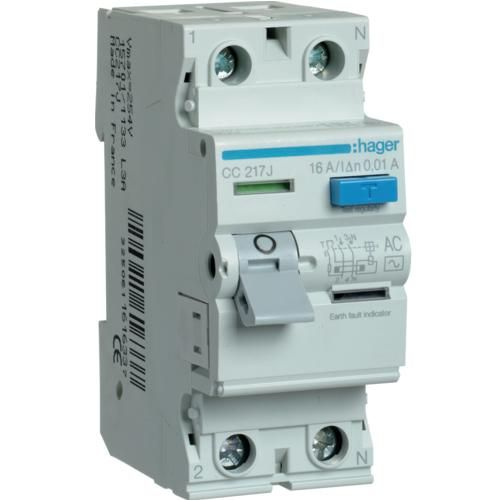 Intreruptor Diferential 2p 16a. 30 Ma. A Hager Cd216j
