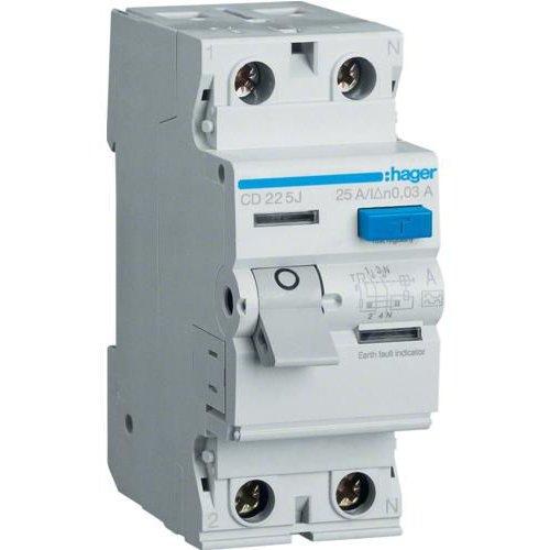 Intreruptor diferential 2P 40A 30mA AC Hager CD241J