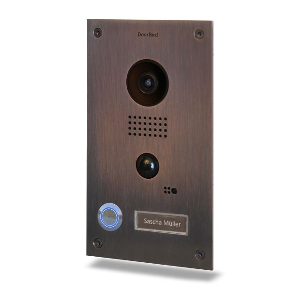 Post videointerfon IP DoorBird D202B de exterior standalone WiFi IP65 PIR pana la 8m audio bidirectional PoE