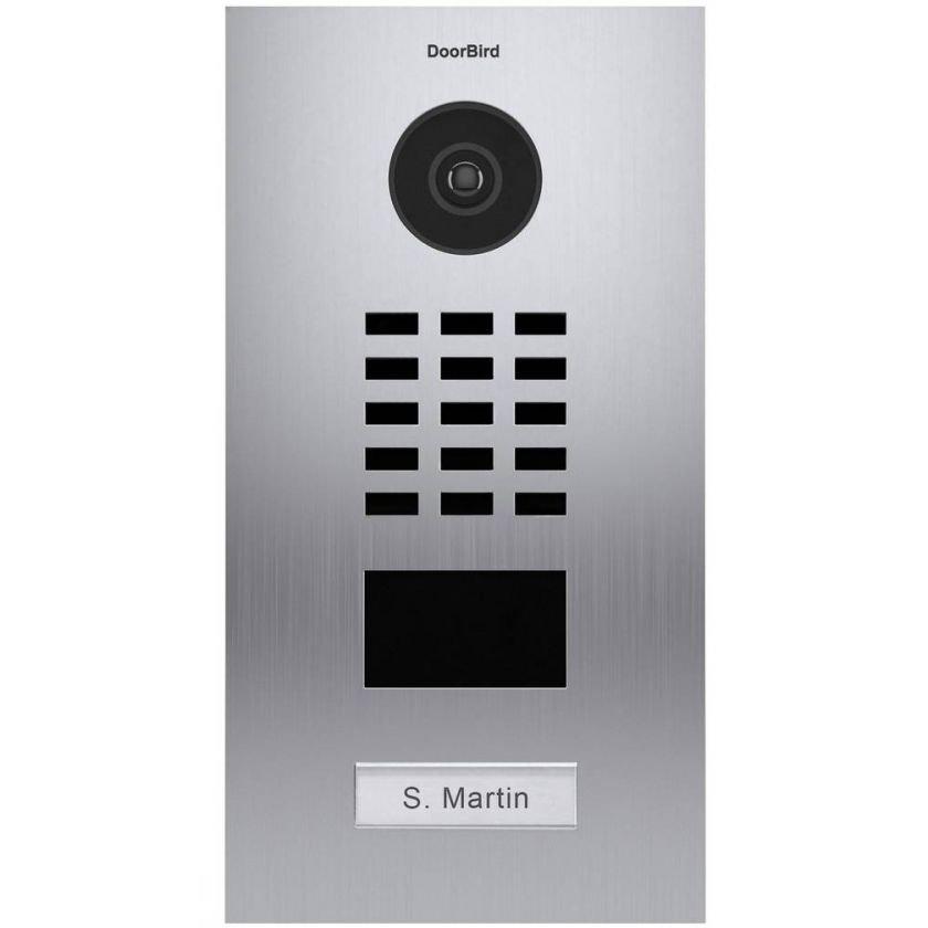 Post videointerfon IP DoorBird D2101V de exterior standalone WiFi IP65 audio bidirectional PoE 2 relee