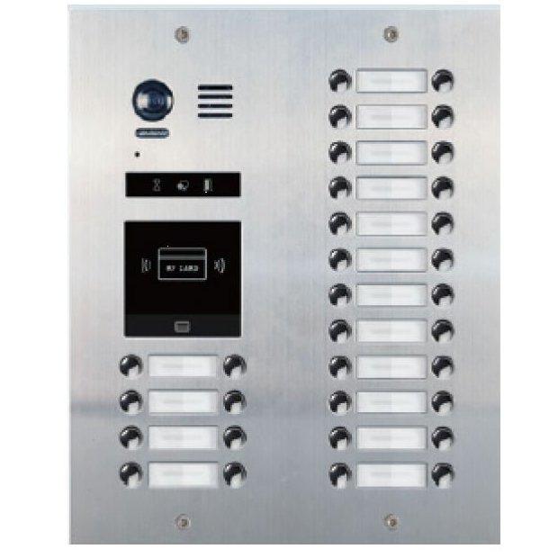 Panoul de apel video modular V-TECH DMR21-D32-F1 cu camera wide angle 32 butoane de apel antivandal IP55 incastrabil