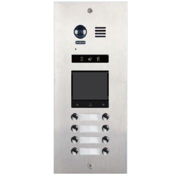 Panou de apel video modular V-TECH DMR21-D8-F1 cu camera wide angle 8 butoane de apel antivandal IP55