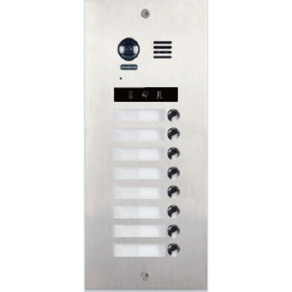 Panou de apel video modular V-TECH DMR21-S8 cu camera wide angle 8 butoane de apel comunicare 2 fire fara polaritate IP55 antivandal