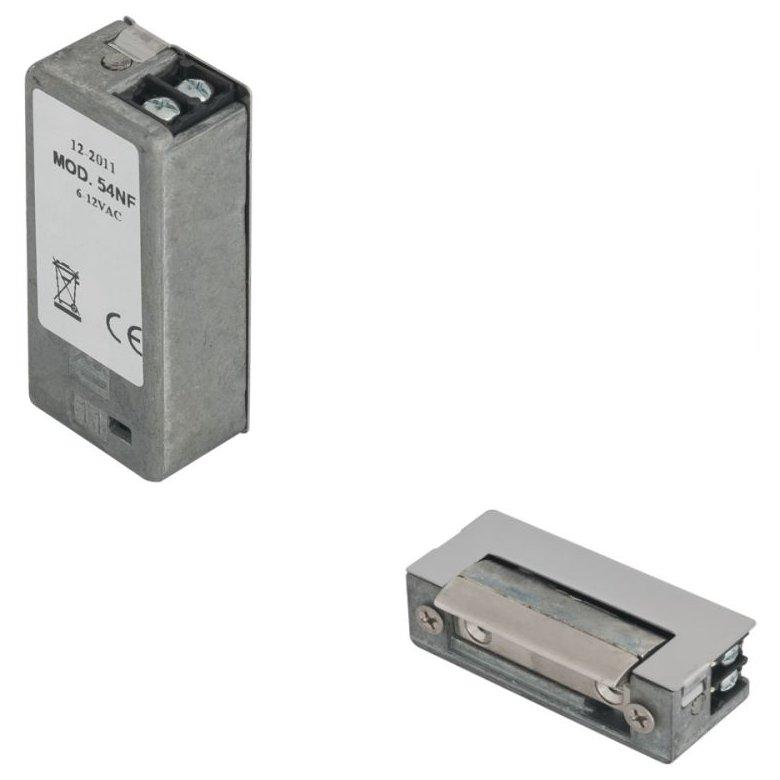 Yala electromagnetica incastrabila DORCAS-54NF ajustabila reversibila 8-12V NO