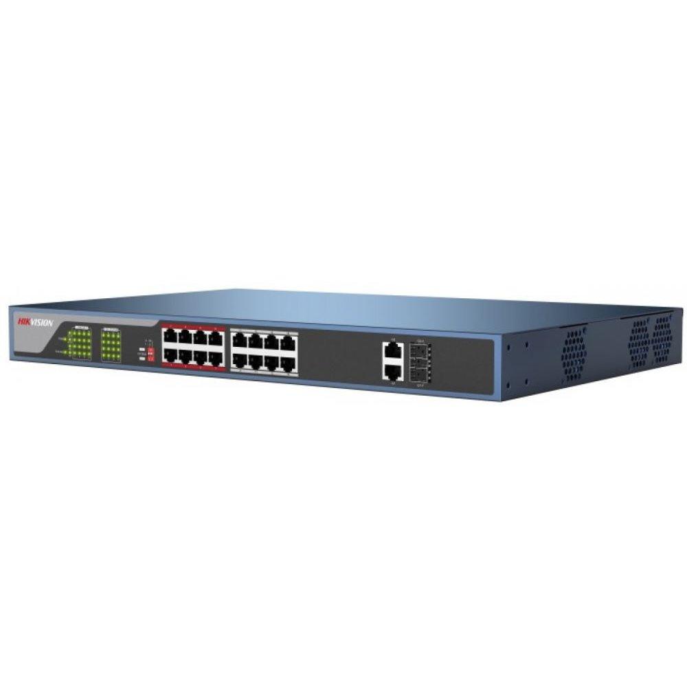 Switch 16 porturi PoE Hikvision DS-3E0318P-E mod extended 230W