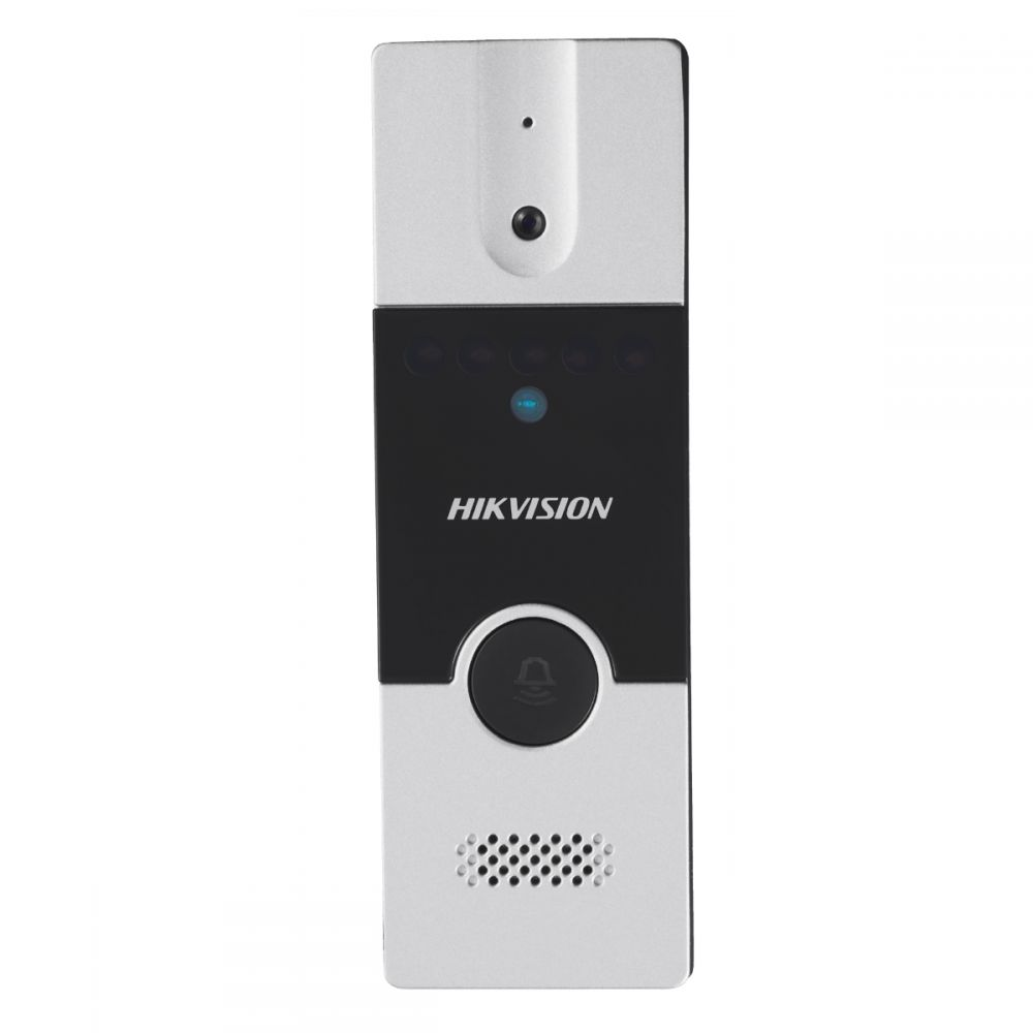 Post videointerfon exterior Hikvision DS-KB2411-IM instalare pe 4fire;Pinhole Camera with 720*576 @ 25 fps Video Intercom Communication