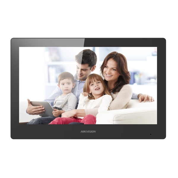 Imagine Monitor Videointerfon Wifi Modular 10inch Color Hikvision Ds-kh8520-wte1-eu; Ecran Lcd Cu Touch Screeen Rezolutie