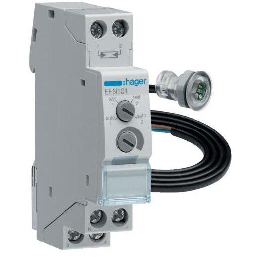 Intrerupator crepuscular 1M 230V 16A AC1 celula montaj incastrat Hager EEN101