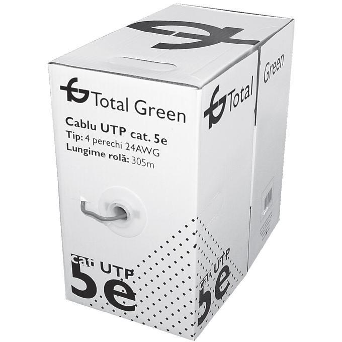 Cablu Utp Cat5e Total Green El0017647 Rola 305m