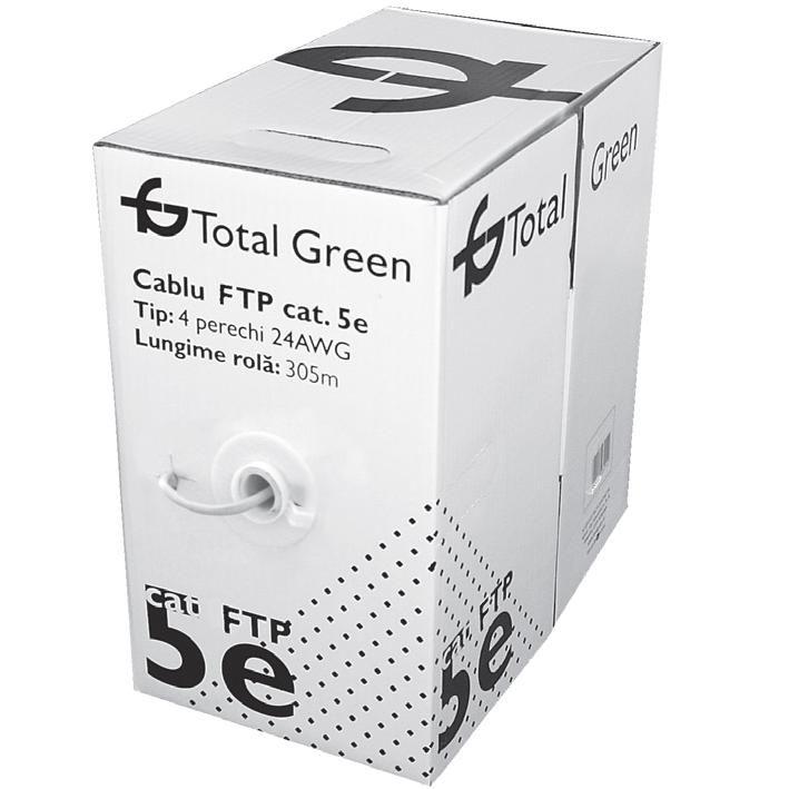Cablu Ftp Cat5e Total Green Rola 305m