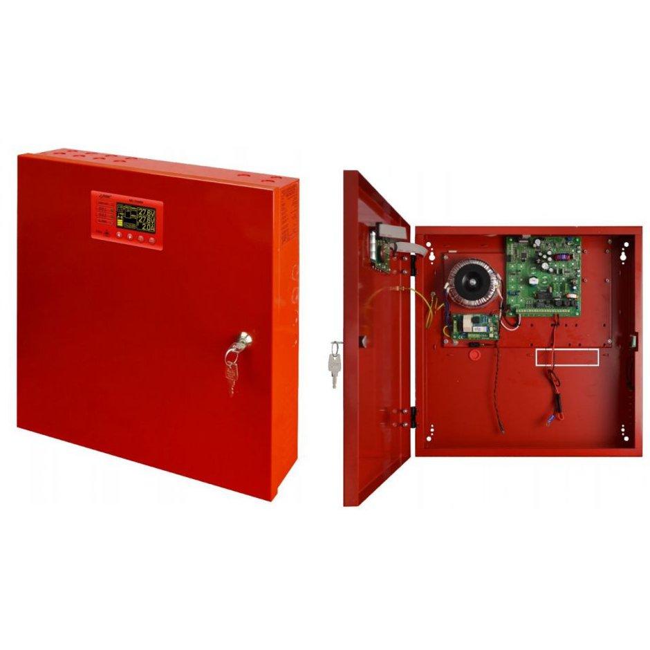 Sursa De Alimentare Lcd En54-2a17lcd 27.6v. 2a Pentru Sistemele De Incendiu. Protectie Sabotaj Si Montaj Aparent
