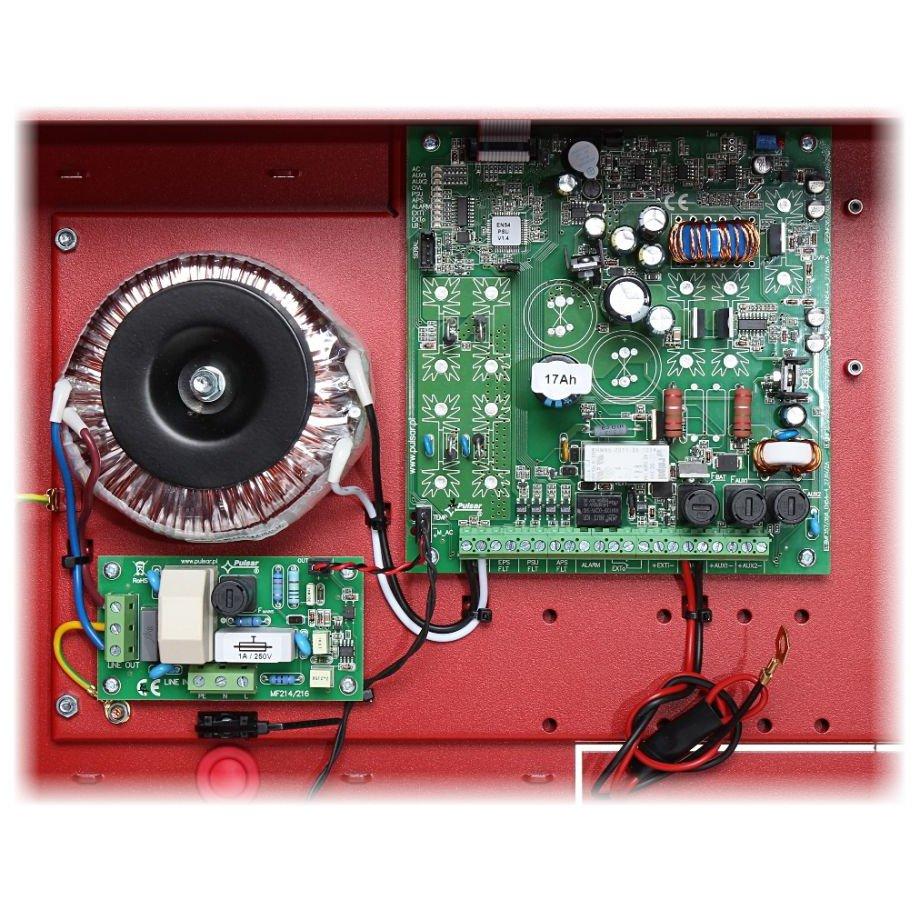 Sursa De Alimentare Led En54-5a28 27.6v. 5a Pentru Sistemele De Incendiu. Montare Aparenta. Protectie Sabotaj