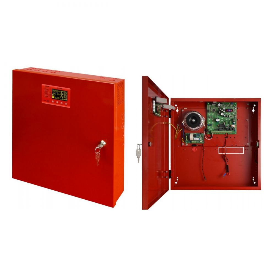 Sursa de alimentare LCD EN54-7A17LCD 27.6V 7A pentru sistemele de incendiu protectie sabotaj si montaj aparent