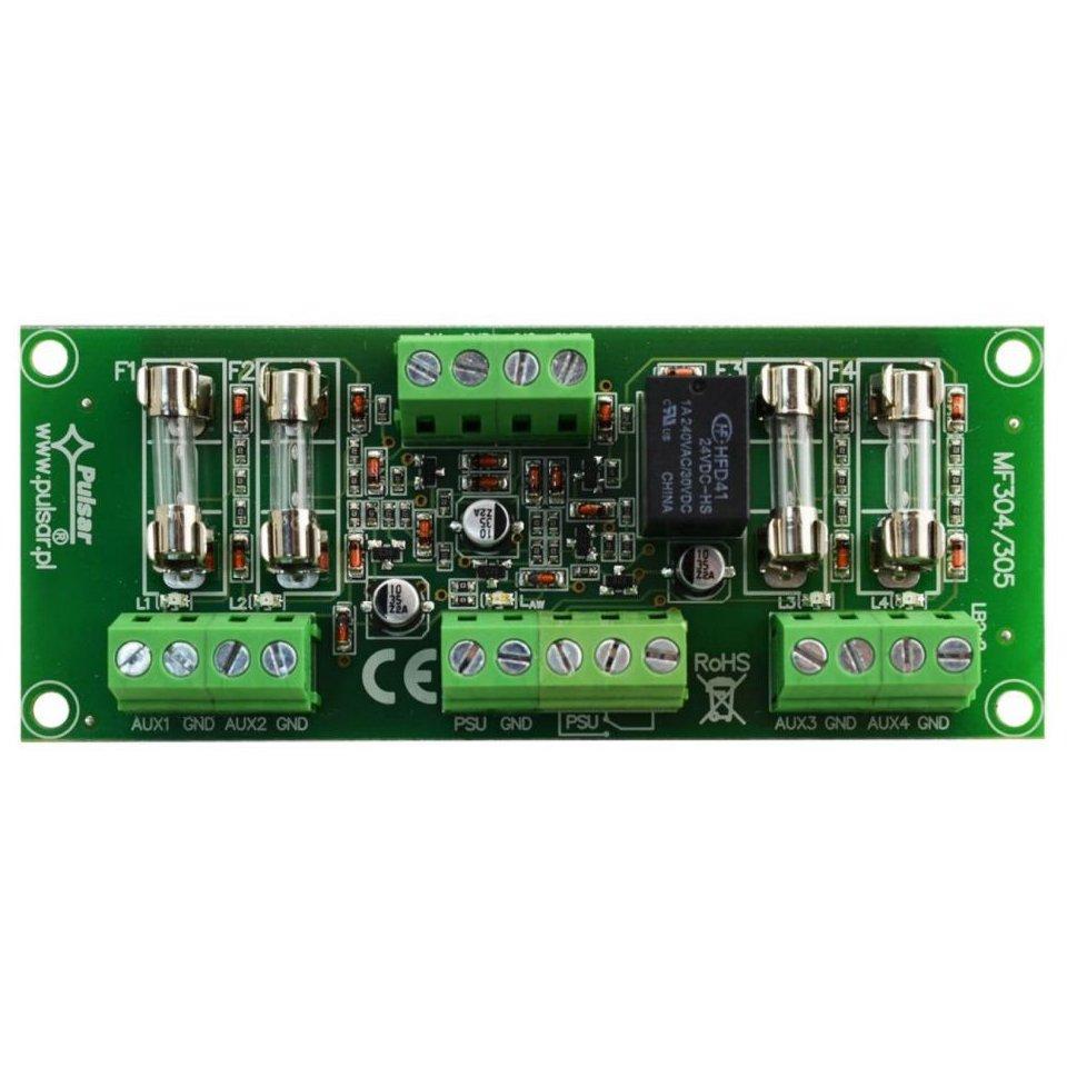 Modul Cu 4 Sigurante Fuzibile En54-lb4 Pentru Sursele Red Certificate En54