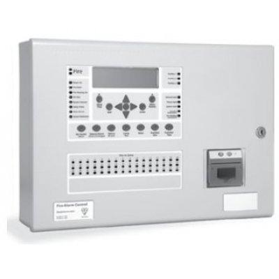 Centrala de incendiu cu 2 bucle Kentec ENSH63002 14P* cu 0 LED-uri de zona montaj ingropat cu cheie de activare si imprimanta