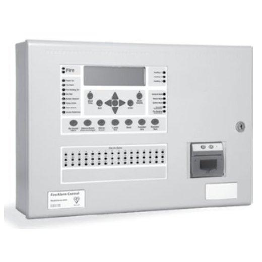 Centrala de incendiu cu 4 bucle Kentec ENSH63004 14P* cu 0 LED-uri de zona montaj ingropat cu imprimanta si cheie de activare