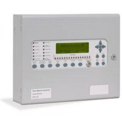Centrala de incendiu cu 2 bucle Kentec ENSH63162 03P cu 16 LED-uri de zona montaj aparent cu imprimanta si cheie de activare