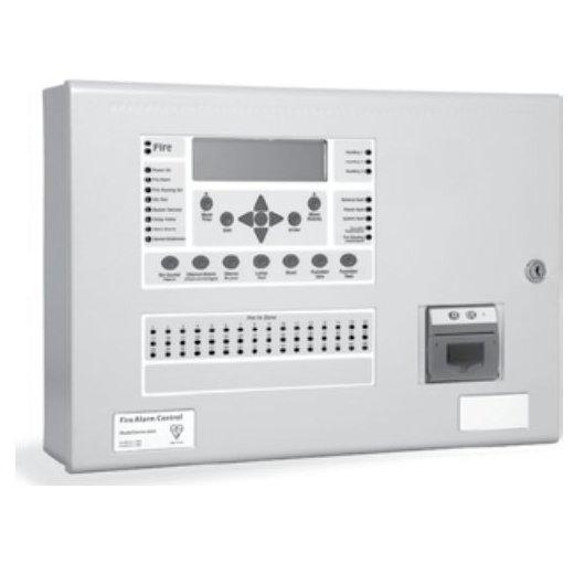 Centrala de incendiu cu 4 bucle Kentec ENSH63164 14* cu 16 LED-uri de zona montaj ingropat cu cheie de activare