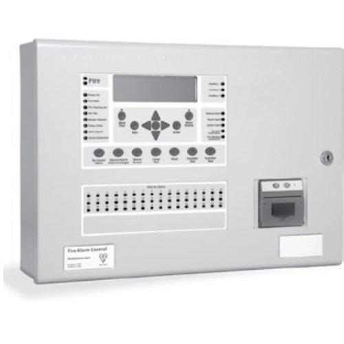 Centrala de incendiu cu 4 bucle Kentec ENSH63484 03P cu 48 LED-uri de zona montaj aparent cu imprimanta si cheie de activare
