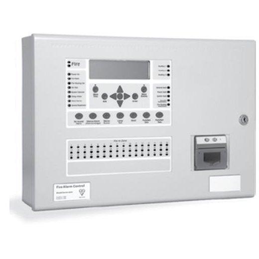 Centrala de incendiu cu 2 bucle Kentec ENSH63962 03 cu 48 LED-uri de zona montaj aparent cu cheie de activare