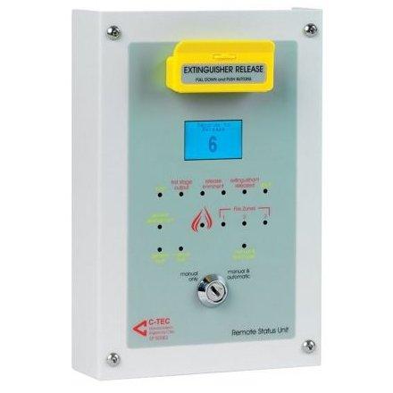 Unitate de stare tip remote C-TEC EP210S montare ingropata cu LCD pentru afisarea starii