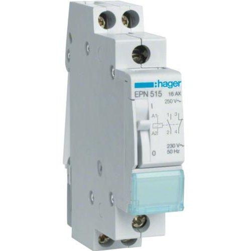 Teleruptor 230V/16A 1NI/1ND Hager EPE515