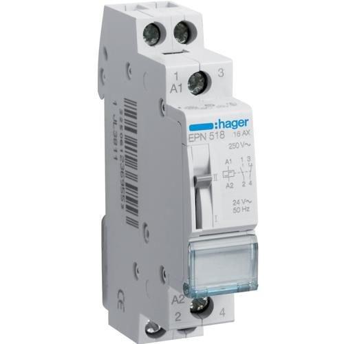 Teleruptor 24V/16A 1NI/1ND Hager EPE518