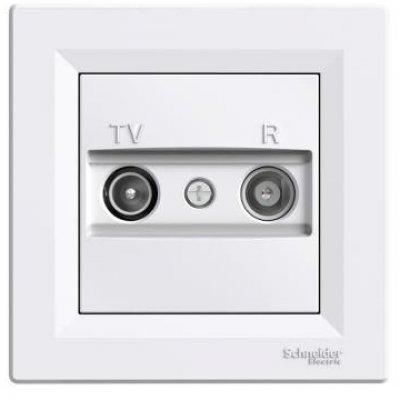 Priza de capat TV-R 1db alb Schneider Asfora EPH3300121