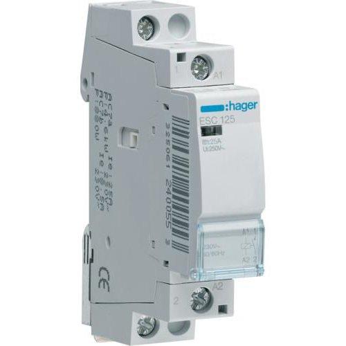 Contactor 25A 1ND 230V Hager ESC125