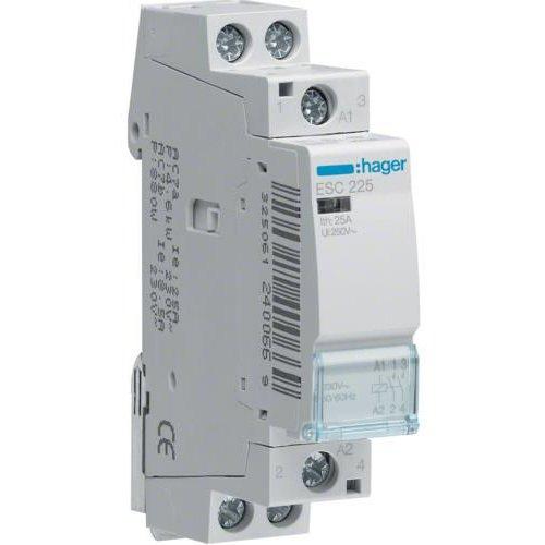 Contactor 25A 2ND 230V Hager ESC225