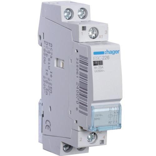 Contactor 25A 2NI 230V Hager ESC226