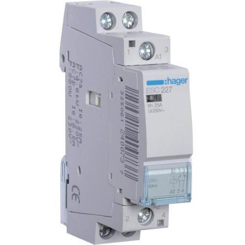 Contactor 25A 1ND+1NI 230V Hager ESC227