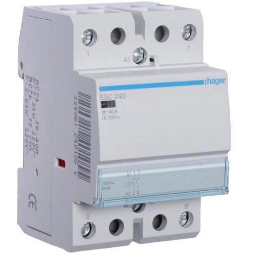 Contactor 40A 2ND 230V Hager ESC240